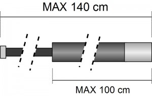 rozměry dlouhé pompy