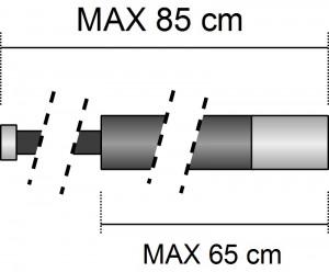 rozměry krátké pompy